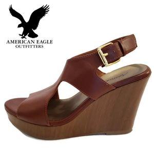 American Eagle Cutout Wedge Sandals